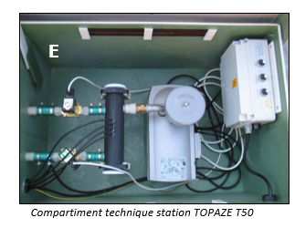 Compartiment technique station d'épuration Topaze